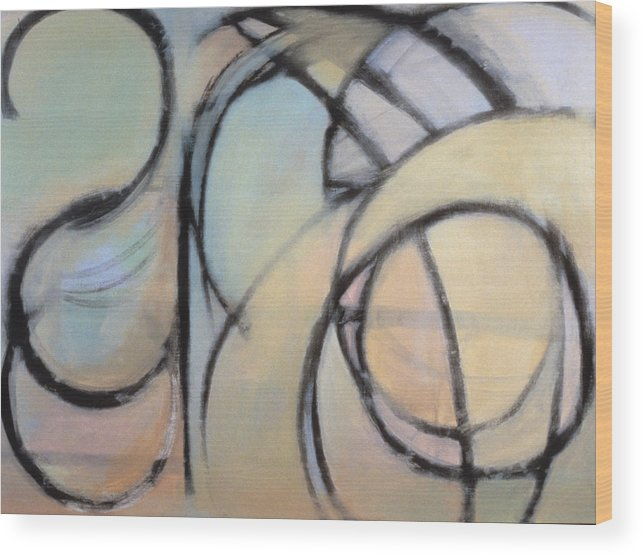Abstract Arc Wood Print featuring the painting Arc No. 4 by Ruth Sharton
