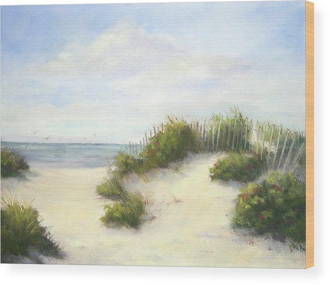 Beach Wood Print featuring the painting Cape Afternoon by Vikki Bouffard