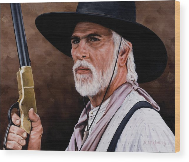 Lonesome Dove Wood Print featuring the painting Captain Woodrow F Call by Rick McKinney
