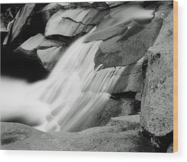 Landscape Wood Print featuring the photograph Cascade 2 by Allan McConnell