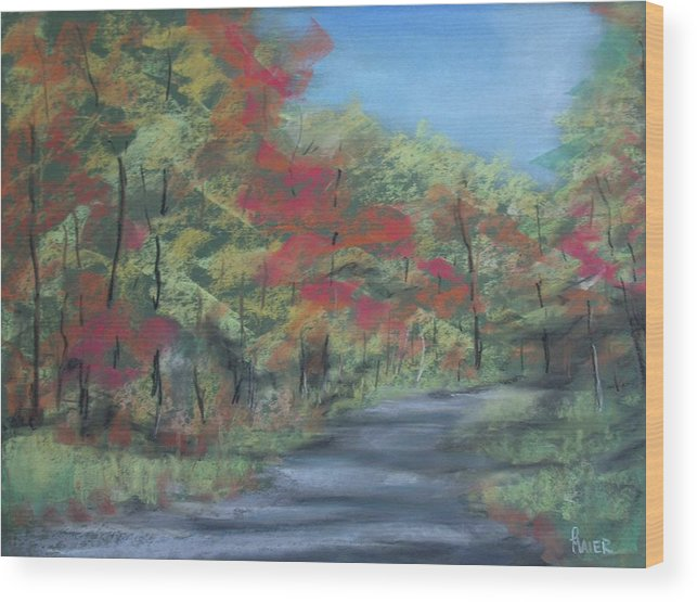 Landscape Wood Print featuring the painting Country Road II by Pete Maier