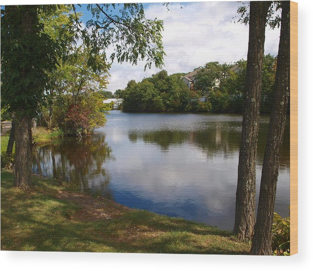 West Orange Wood Print featuring the photograph Crystal Lake by Valerie Morrison