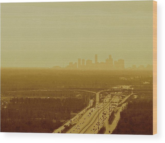 Texas Wood Print featuring the photograph Dallas Sky by Katie Ransbottom