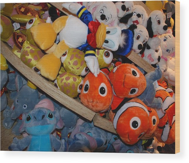 Colors Wood Print featuring the photograph Disney Animals by Rob Hans