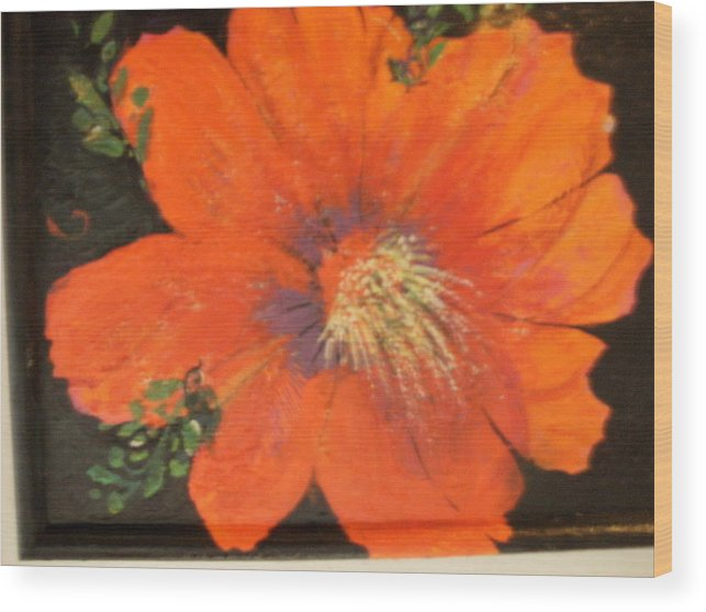 Redflower Wood Print featuring the painting Every Day Is A Holiday by Anne-Elizabeth Whiteway