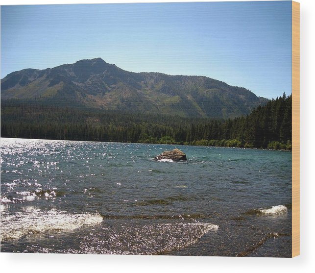 Landscape Wood Print featuring the photograph Fallen Leaf Lake - South Lake Tahoe by Albert Almondia