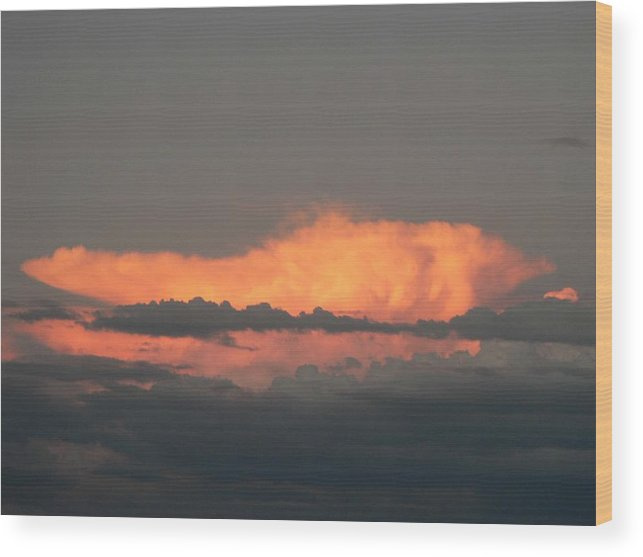 Photography Wood Print featuring the photograph Fire Storm by Cynthia Ann Swan