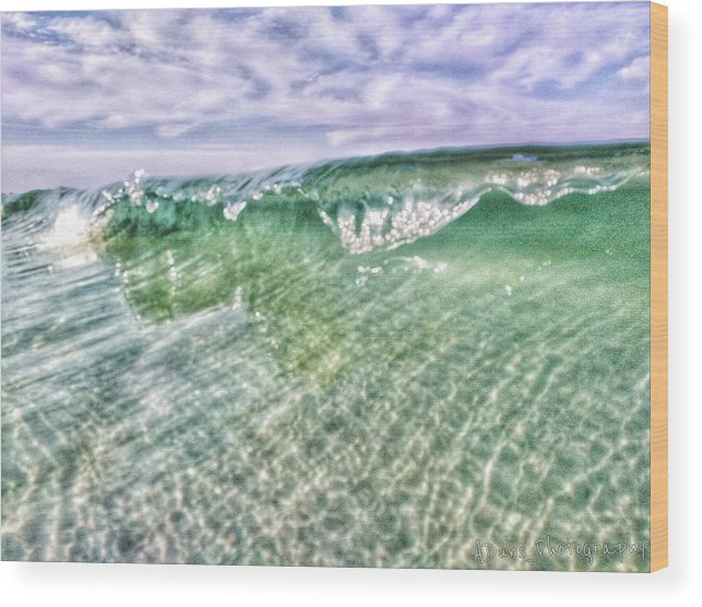 Waves Wood Print featuring the photograph Gulf Waves by Allen Williamson
