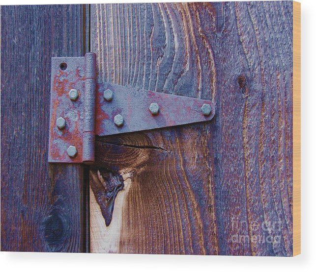 Hinge Wood Print featuring the photograph Hinged by Debbi Granruth