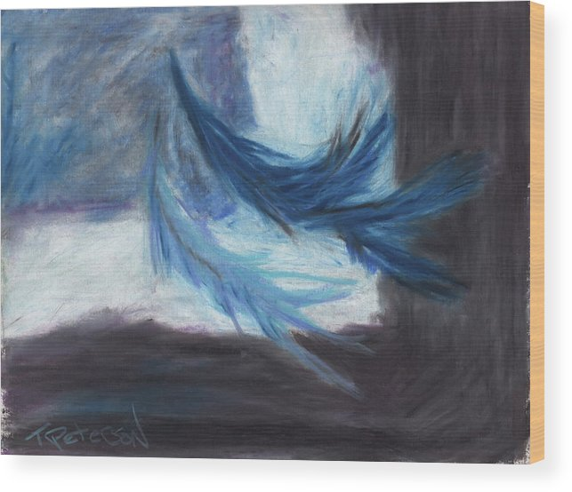 Abstract Wood Print featuring the painting I Dreamt Of Flight by Todd Peterson