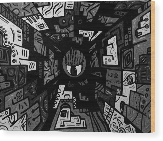 Abstract Wood Print featuring the painting in Sight 3 by Goyo Angulo