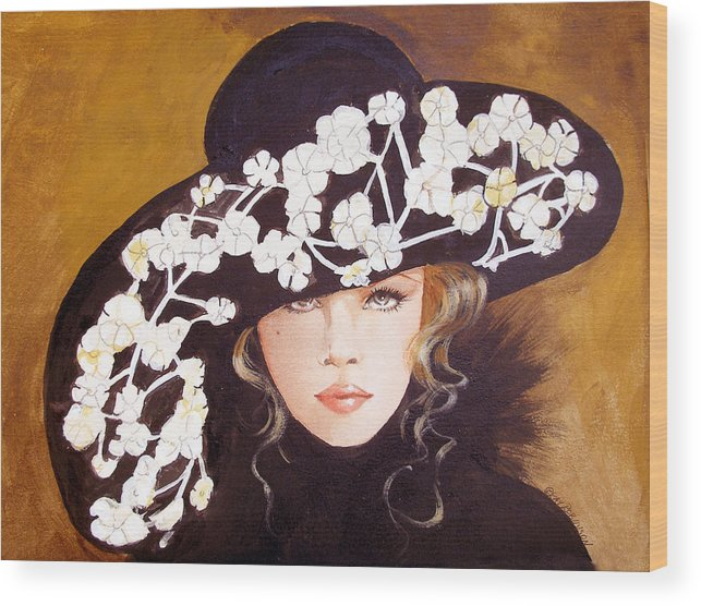Fashion Wood Print featuring the print Isabella by Kay Robinson