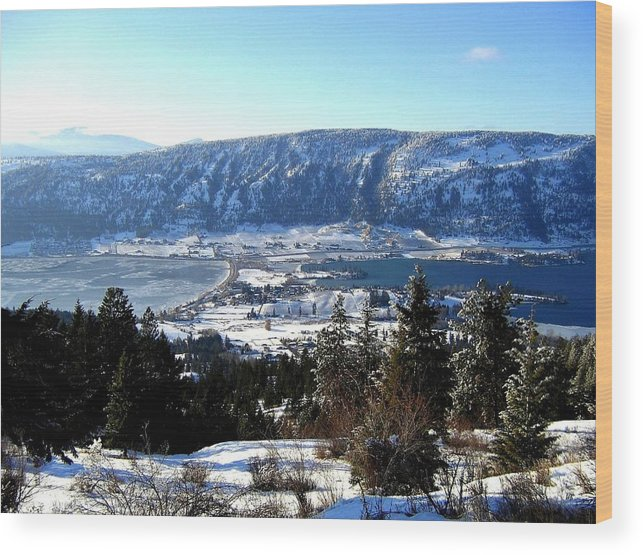 Oyama Wood Print featuring the photograph Jewel Of The Okanagan by Will Borden