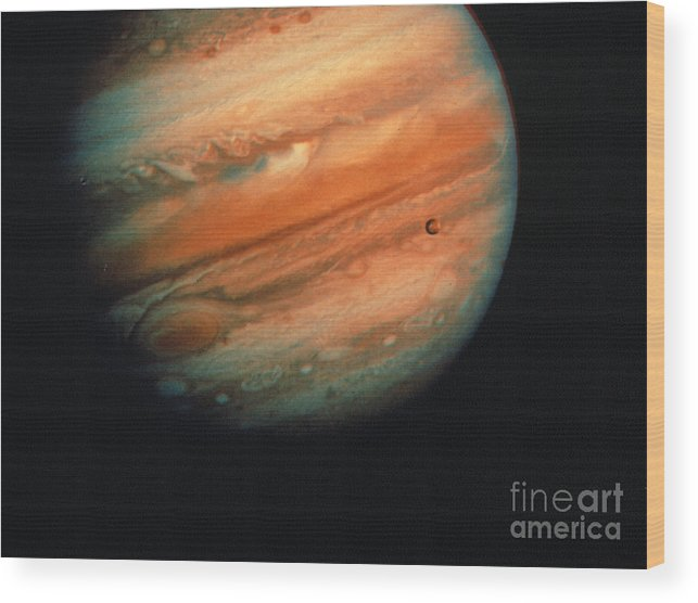 1970s Wood Print featuring the photograph Jupiter, Europa, & Io by Granger