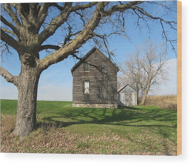 Farmhouses Wood Print featuring the photograph Lock The Door by Richard Stanford