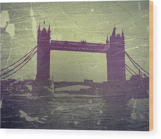 London Tower Bridge Wood Print featuring the photograph London Tower Bridge by Naxart Studio