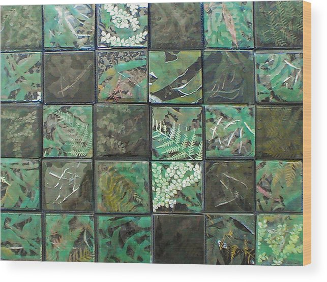 Logging Wood Print featuring the mixed media Lost Rainforest by Srah King