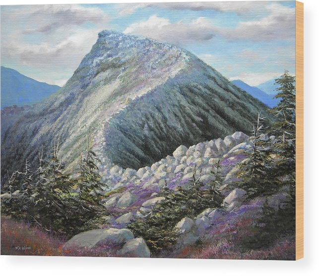 Landscape Wood Print featuring the painting Mountain Ridge by Frank Wilson
