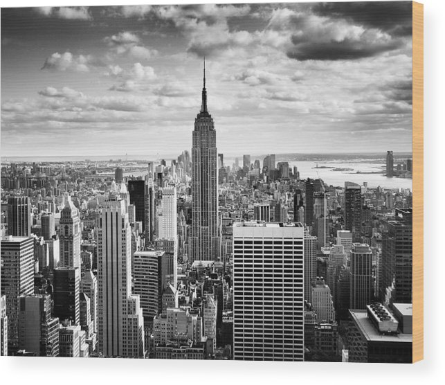 New Wood Print featuring the photograph Nyc Downtown by Nina Papiorek