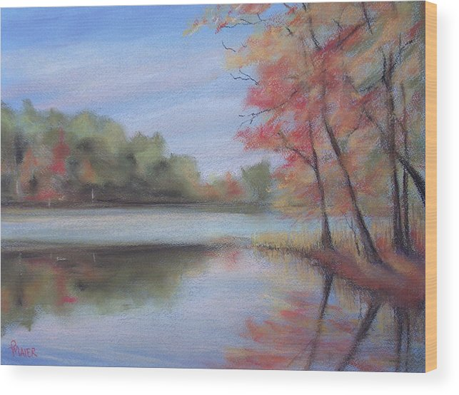 Lakescape Wood Print featuring the painting Old Friend by Pete Maier