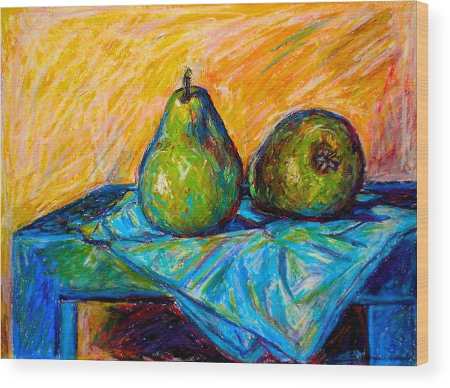 Still Life Wood Print featuring the painting Other Pears by Kendall Kessler