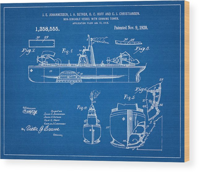 Patent 1918 unsinkable battle ship aircraft carrier blueprint patent 1920 unsinkable battle ship nautical art aircraft carrier naval ship navy malvernweather Choice Image