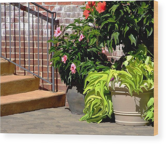 Scenic Wood Print featuring the photograph Patio Scenic by Jim Darnall