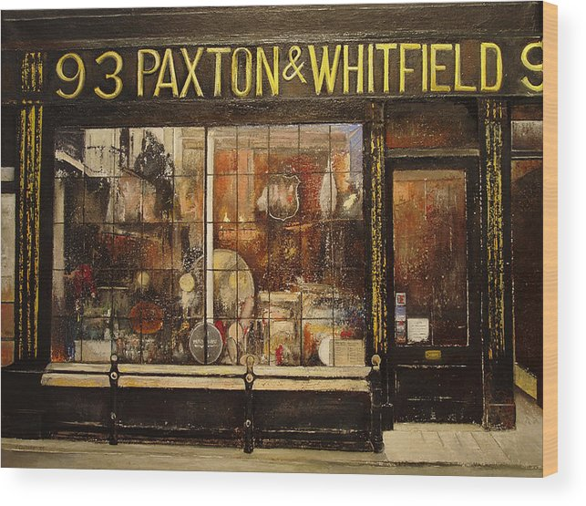 Paxton Wood Print featuring the painting Paxton Whitfield .london by Tomas Castano