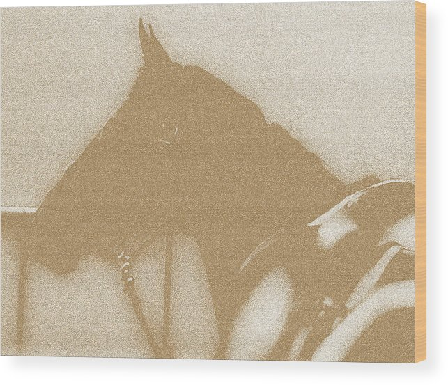 Horses Wood Print featuring the digital art Ready To Ride by Donna Thomas