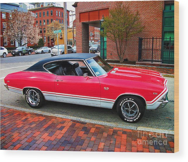 Red 68 69 chevelle ss 396 wood print by lita kelley - 69 chevelle ss 396 images ...