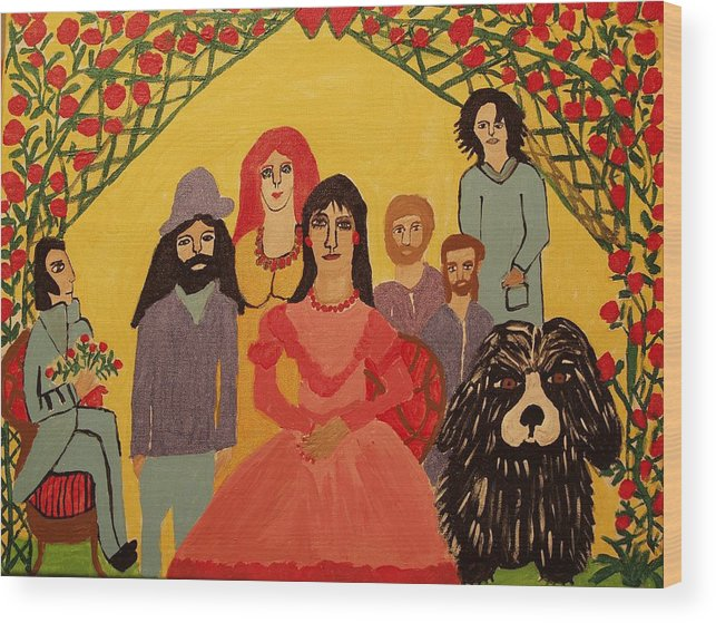 People Wood Print featuring the painting Reunion by Betty J Roberts