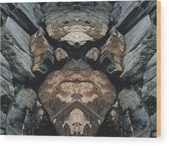 Rocks Wood Print featuring the photograph Rock Gods Rock Matron by Nancy Griswold