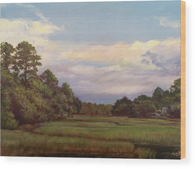 Seabrook Wood Print featuring the painting Seabrook by Jack Tenenzaph