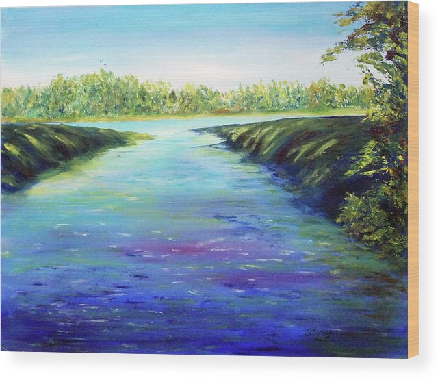 Water Wood Print featuring the painting Shingle Creek by Tina Storey
