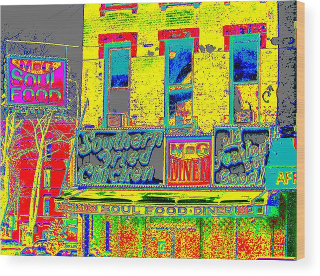 Harlem Wood Print featuring the photograph Soul Food by Steven Huszar