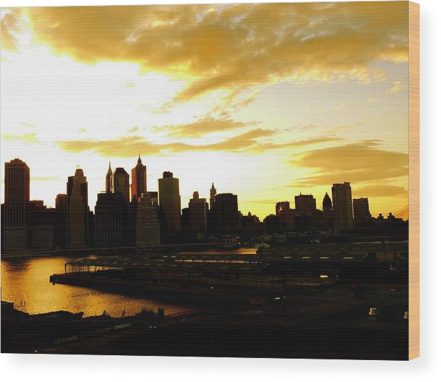 Manhattan Wood Print featuring the photograph Stolen Moments by Kendall Eutemey