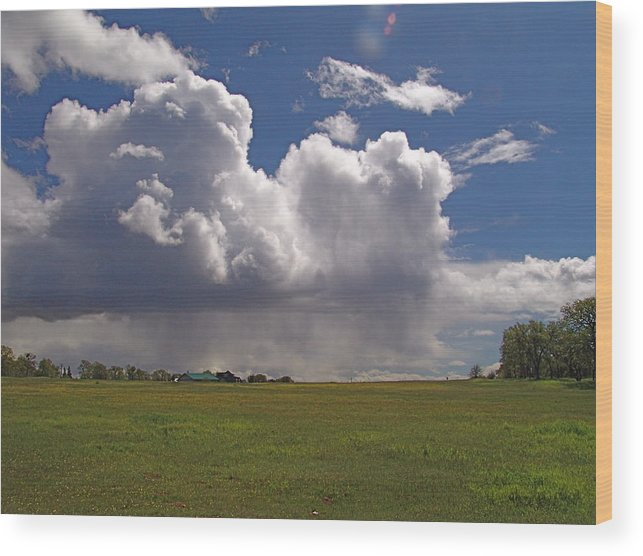 Digital Wood Print featuring the photograph Storm Happening by John Norman Stewart