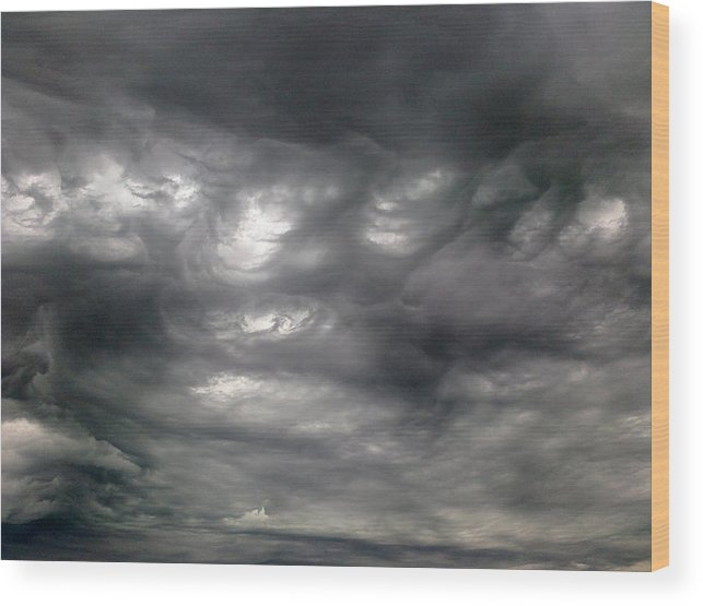 Clouds Wood Print featuring the photograph Stormy by Stephen Doughten