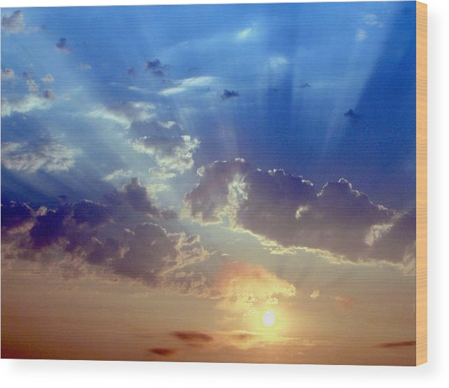 Sunrise Wood Print featuring the photograph Sunrise by Carl Capps