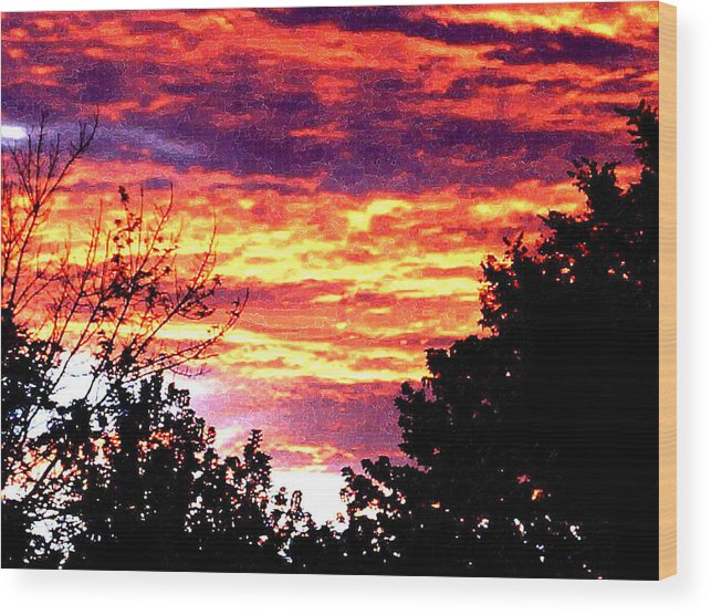 Sunrise Wood Print featuring the photograph Sunrise Over The S.p. by Nathaniel Hoffman