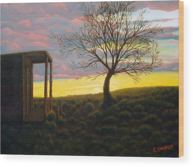 Sunset Wood Print featuring the painting Sunset by Darren Yarborough