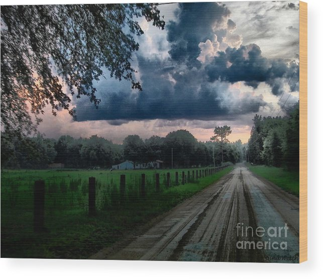 Landscape Wood Print featuring the photograph Take Me Home by Gina Welch