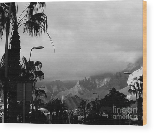 Foto Wood Print featuring the photograph Tenerife Mountains by Karina Plachetka