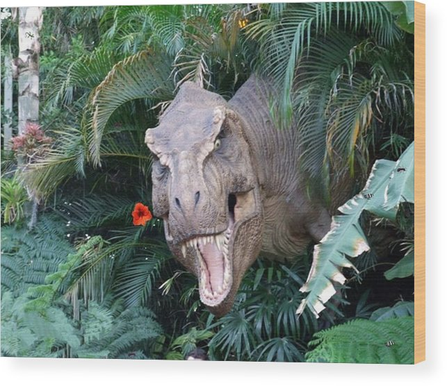 Dinosaur Wood Print featuring the photograph The Dinosaurs Lunch by Rana Adamchick