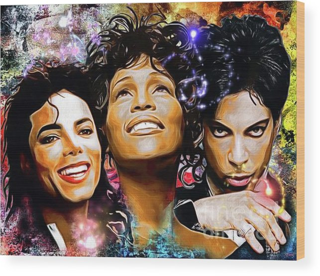 The King The Queen And The Prince Wood Print featuring the painting The King, The Queen And The Prince by Daniel Janda
