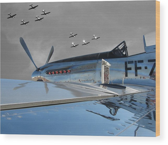 P-51 Wood Print featuring the photograph The Last Flight by Chaz McDowell