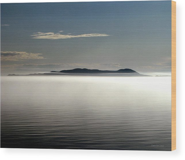 Canada Wood Print featuring the photograph The Mists Of Pic Island by Laura Wergin Comeau