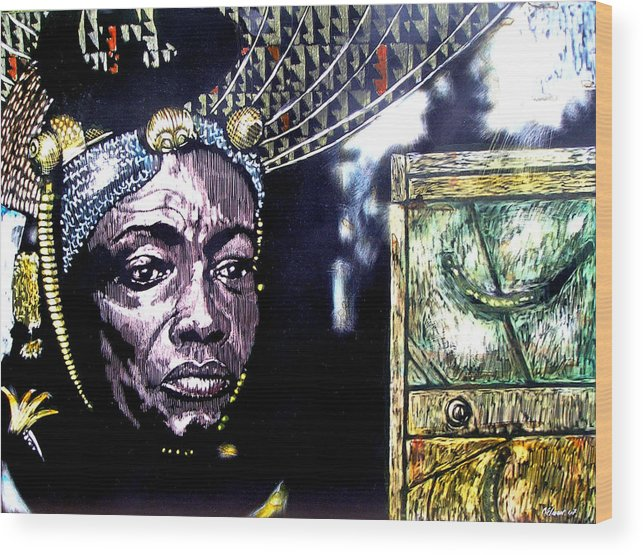 Wood Print featuring the mixed media The Promise Keeper by Chester Elmore