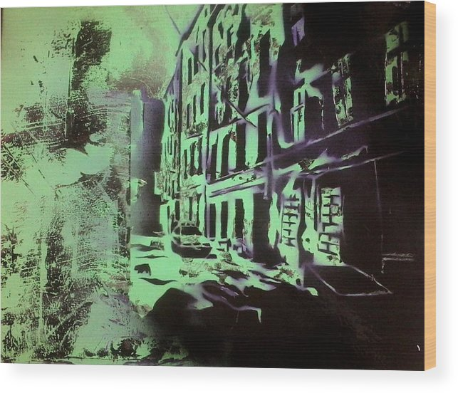 Green Wood Print featuring the painting The Slow Beat by Tim Blackburn