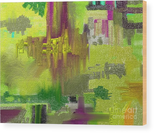 Abstract Wood Print featuring the painting Time by Jo Baby